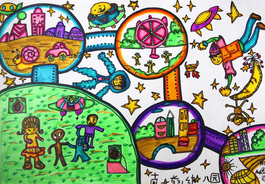 幼儿创意美术作品图片水果摊