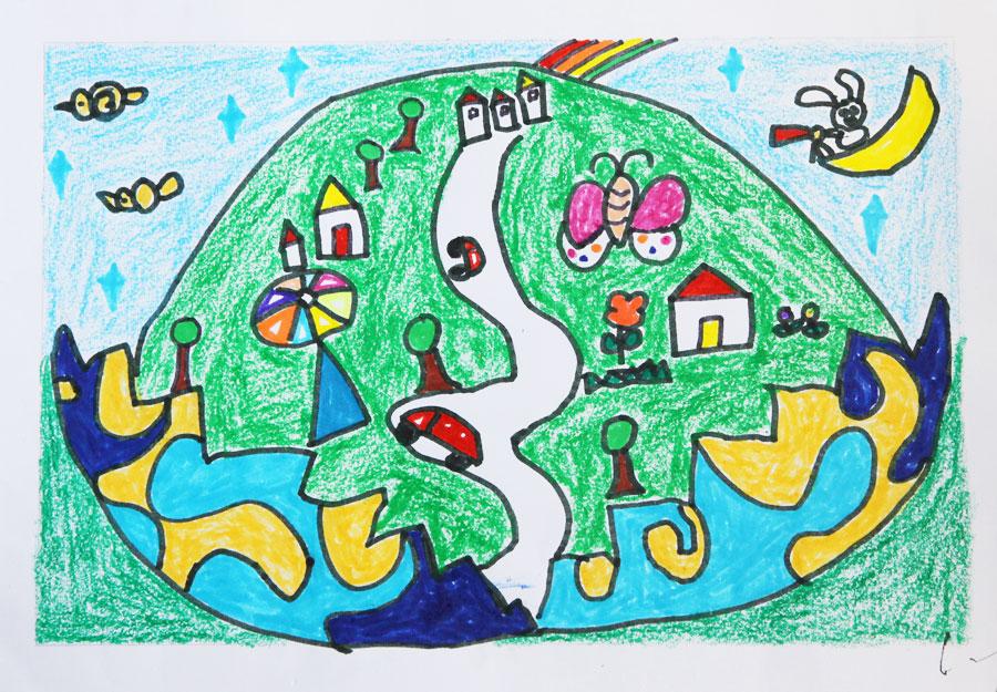 幼儿园绘画春天里的花园