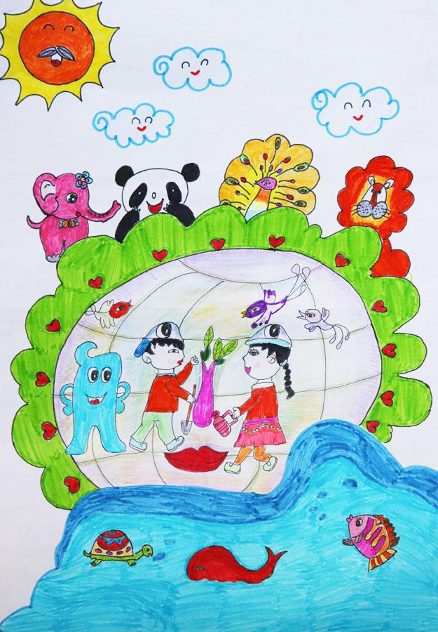 童绘画一家人简笔画
