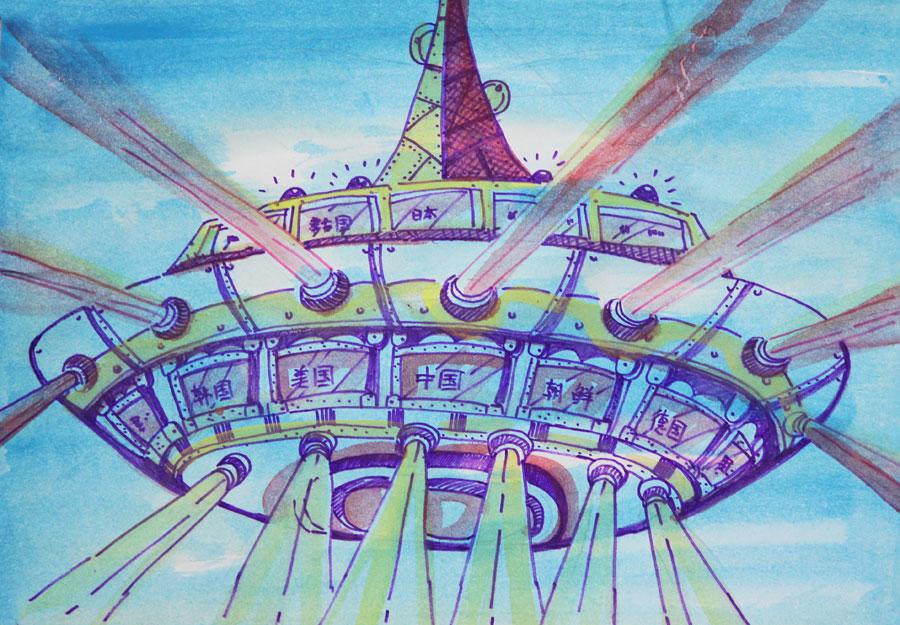 杨佳琪 12岁 太空城图片