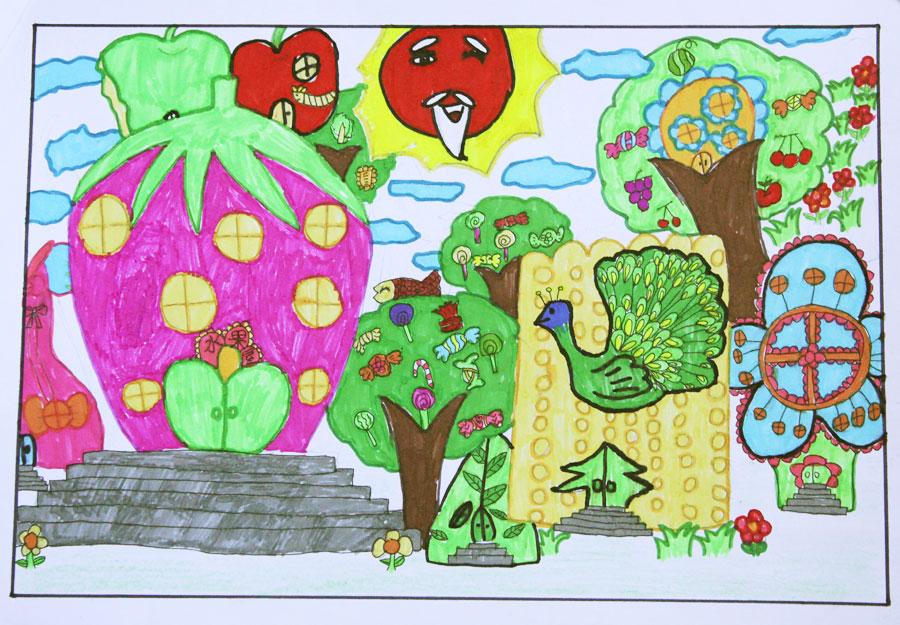未来房子儿童画