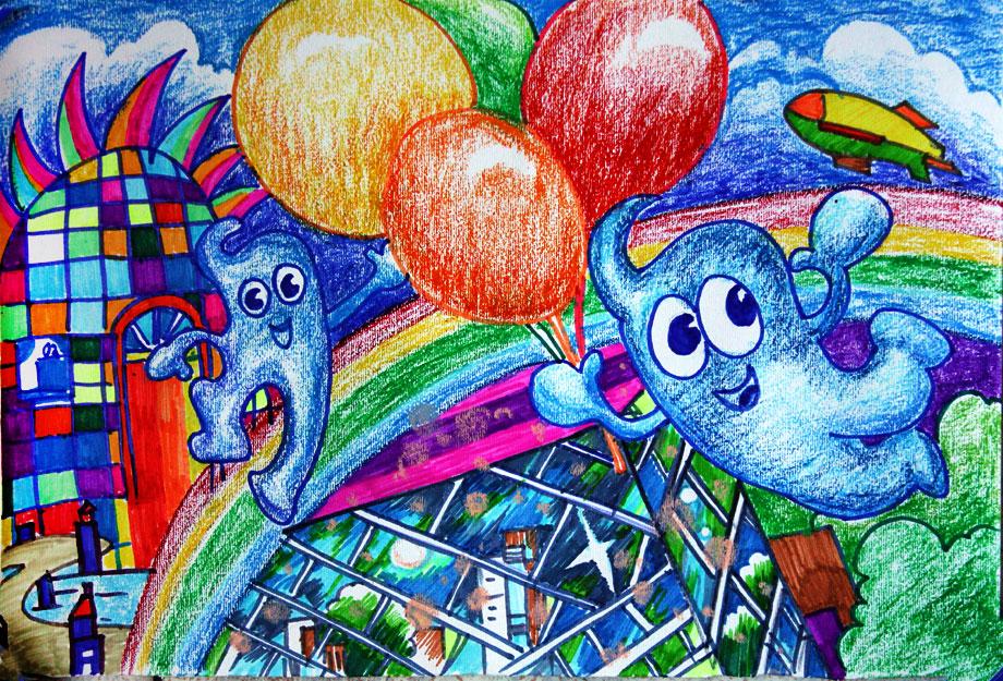 美丽中国美好家园画_美好家园的绘画-画画图片大全,美好家园的绘画作品,小猪简笔画 ...