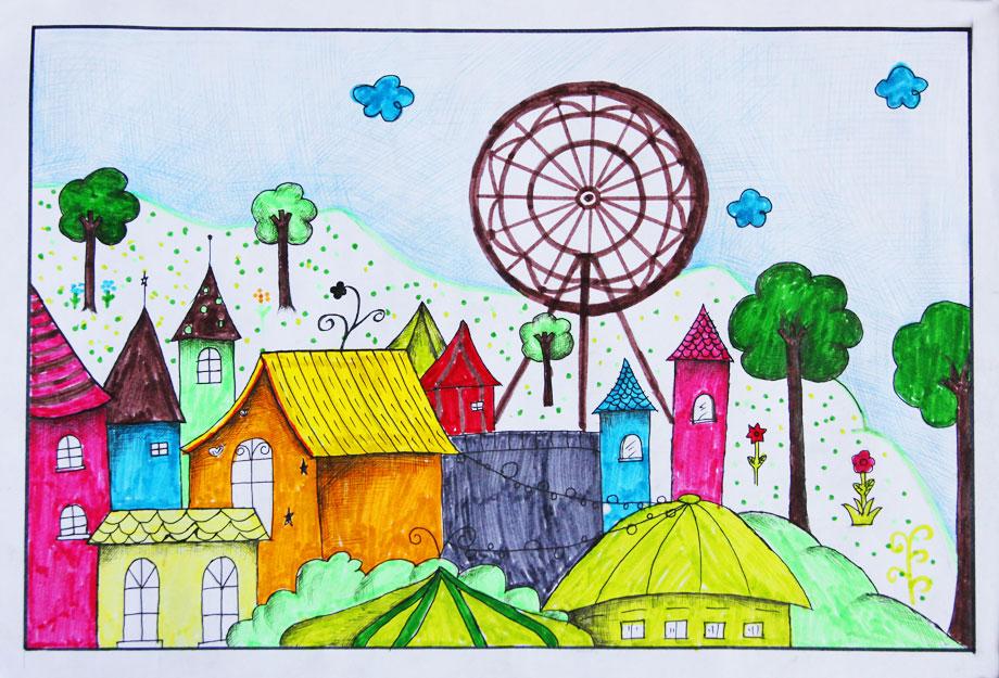 建设美丽家园儿童画_获奖作品 仙居儿童画展馆 仙居网上文化展馆 _汽车图片网