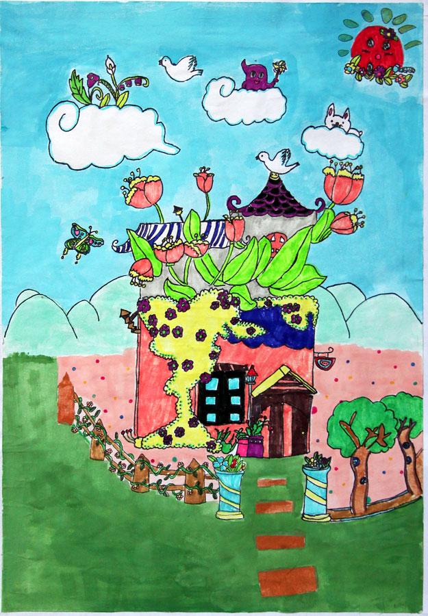 未來世界的圖畫房子