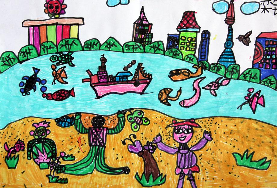 中国梦主题儿童画图片