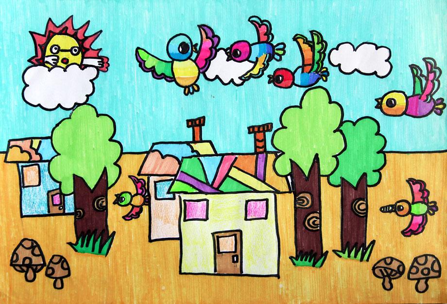 8岁儿童画作品欣赏