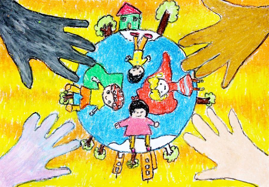 关于画画地球的画