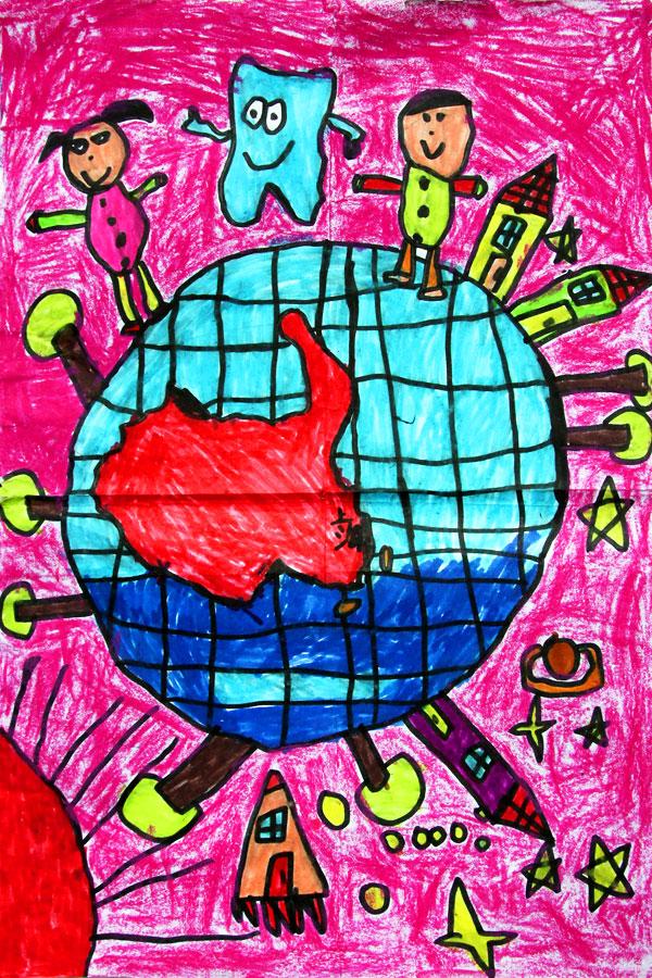 11岁小学生获奖画画作品