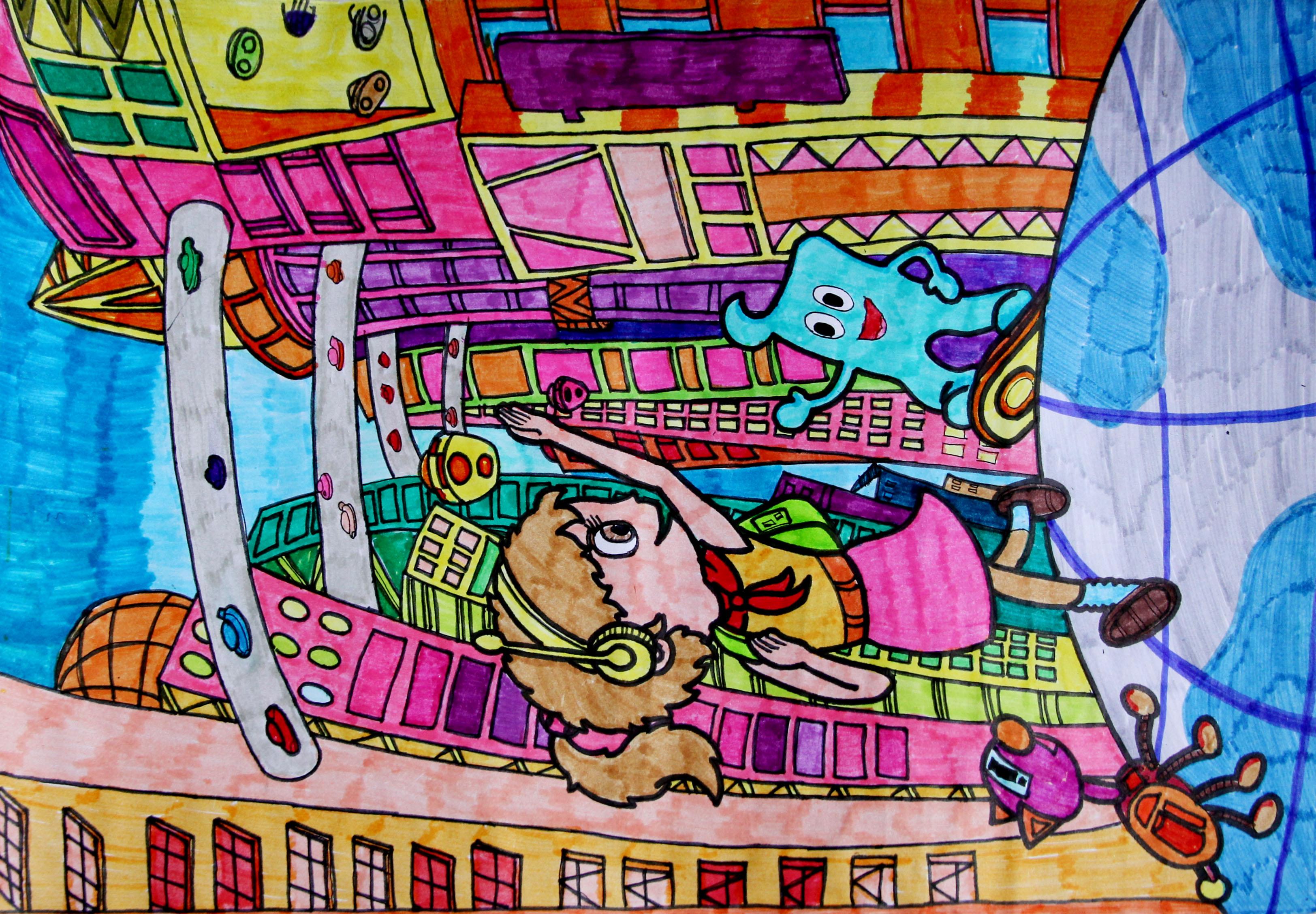 全国电脑绘画比赛_全国中小学生电脑绘画获奖作品:当筷子成为奢侈品_第7页_手工小 ...