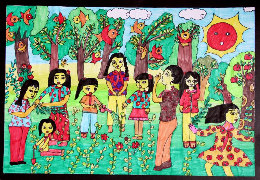 儿童画主题(绘画的形式表现身边的文明)_美好家园绘画-金乡美好家园好吗,美好家园儿童画,重生之打造 ...