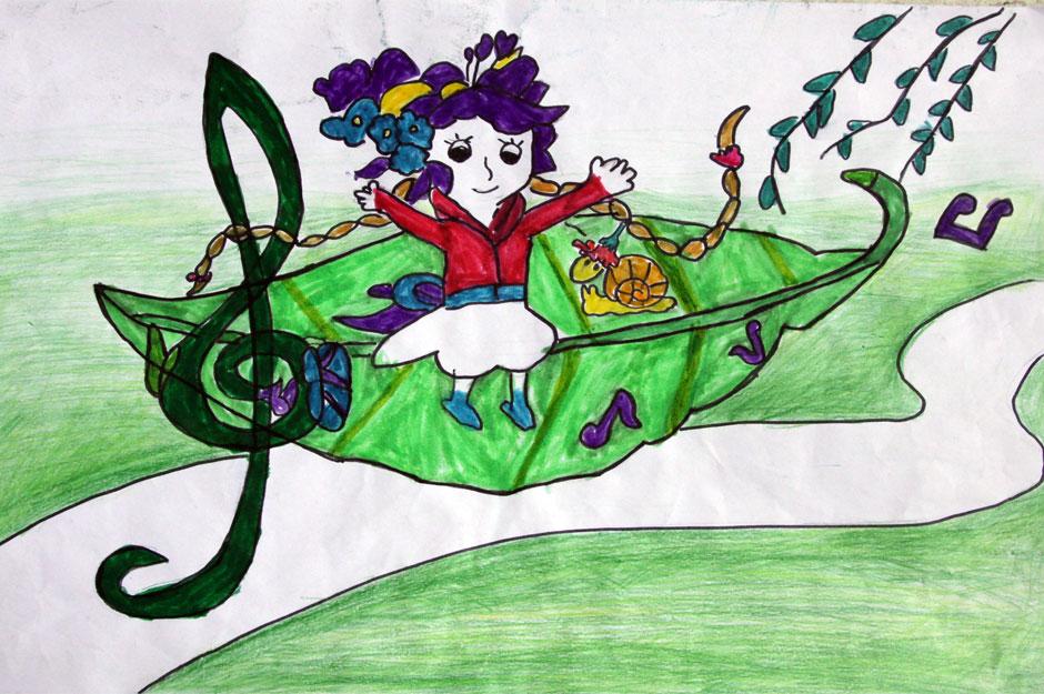 2010创意绘画幼儿组   当前1185票 (点击图片可查看大图) 爱护小树叶
