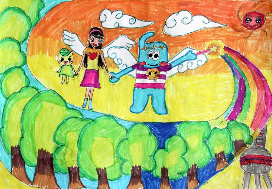 一幅未来的世界的画; 我心中有一艘船简谱; 曲姝璇 10岁 种植明天; 图片