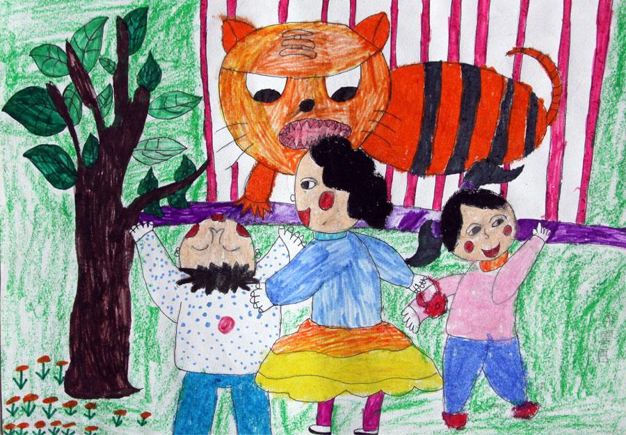 9岁 在动物园里