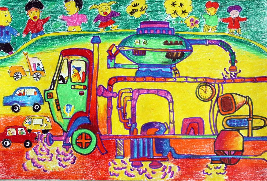 一幅画,小小孩子思维活跃