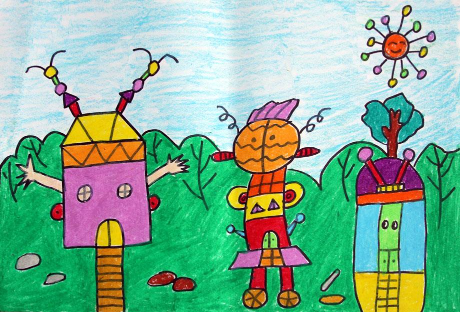 宋逸楠 6岁 会跑的房子图片