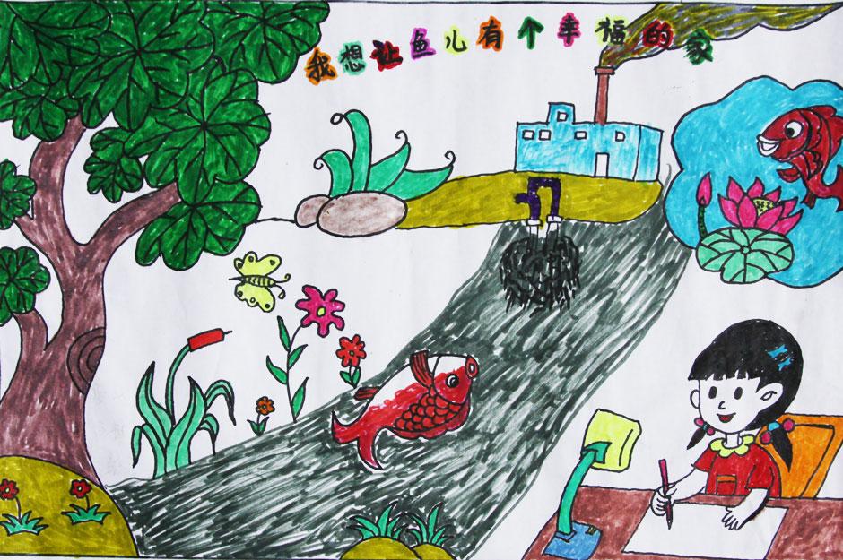 保护环境简笔画_儿童保护环境简笔画