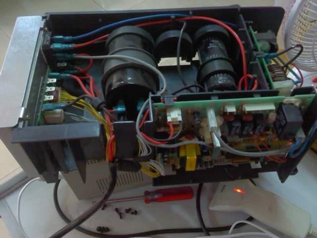 变频空调柜机50-60外机电控总成 上面带外板 模块 整流桥2个 滤波电容
