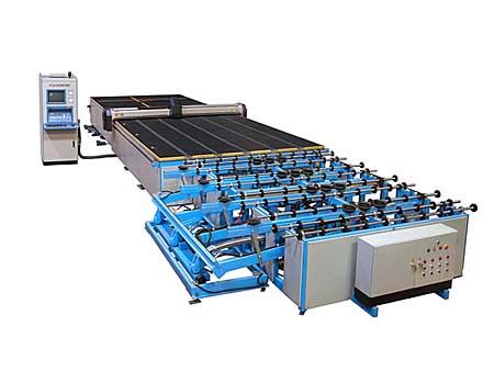 全自动玻璃切割机,气动掰片台三部分组成