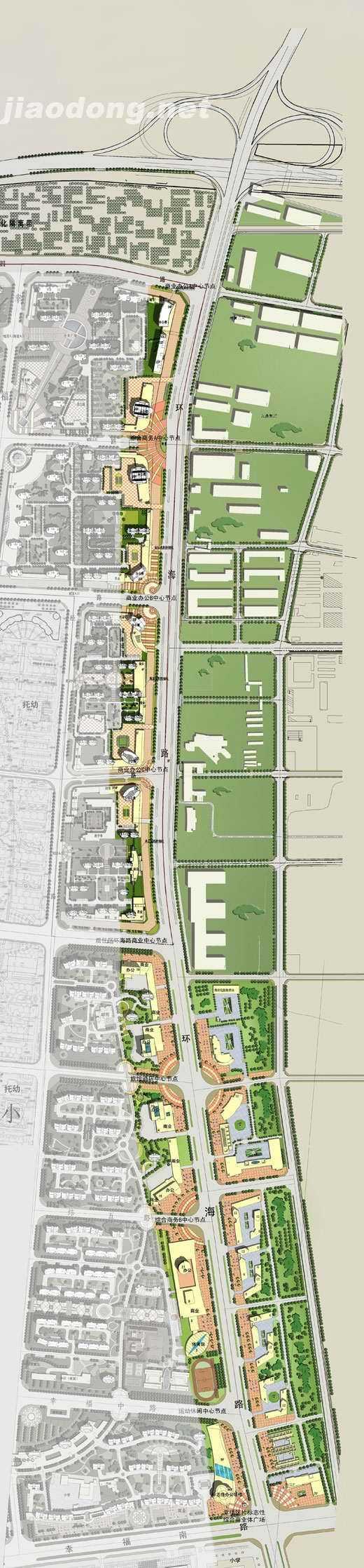 环海路城市设计总平面图